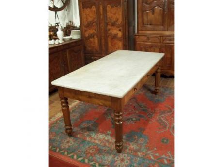 Grande table d 39 office plateau en marbre for Bureau en marbre